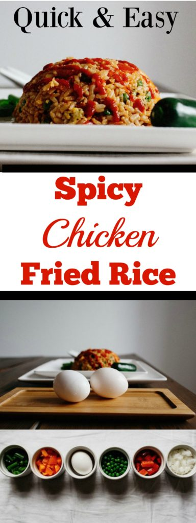 Quick and Easy Spicy Chicken Fried Rice
