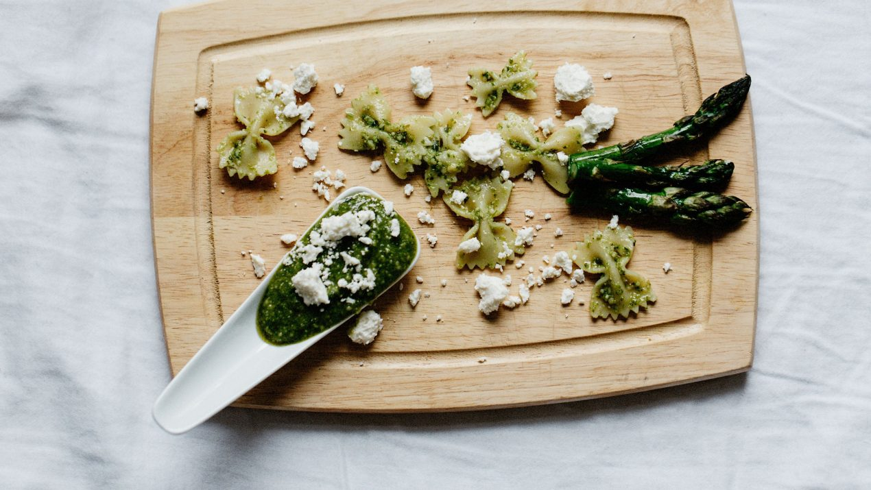Basil Pesto + Roasted Asparagus Pasta Salad: The Perfectly Easy Party Dish