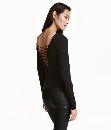 HM Back Lace Bodysuit