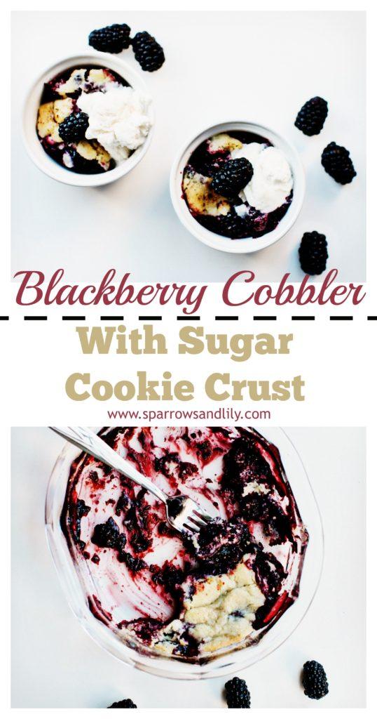 Blackberry Cobbler Sugar Cookie Pinterest