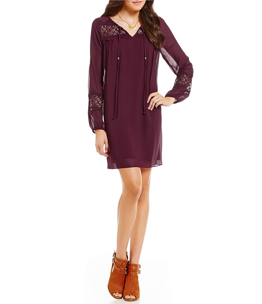 Burgundy Tassel Dress