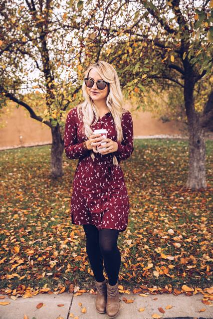 burgundy dress 4
