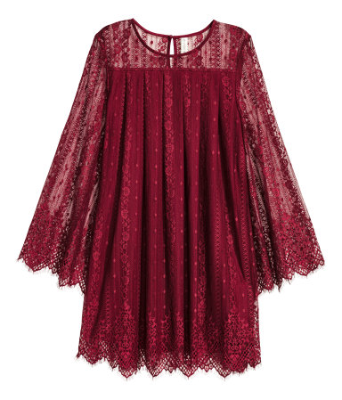 hm red dress fall
