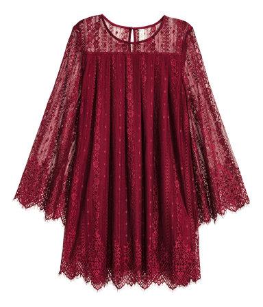 hm red dress fall