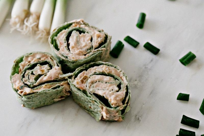 Southwest Chicken Tortilla Pinwheels Easy Appetizer
