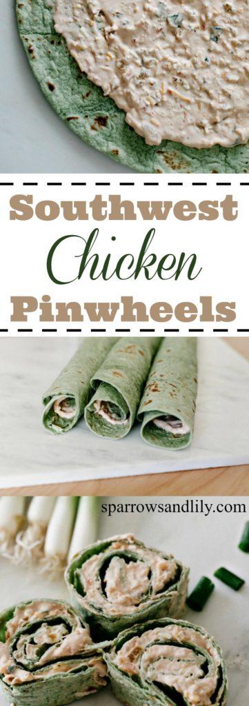 Southwest Chicken Pinwheels Superbowl Appetizer