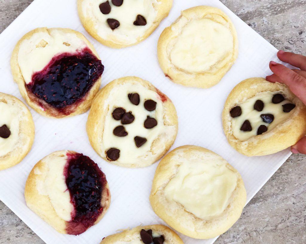 cream cheese danish chocolate chip raspberry breakfast dessert