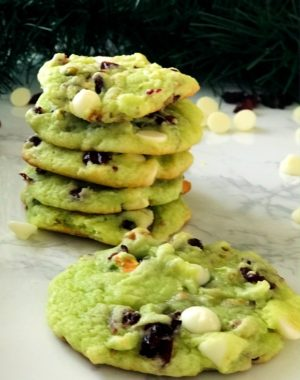 Cranberry Pistachio White Chocolate Cookies