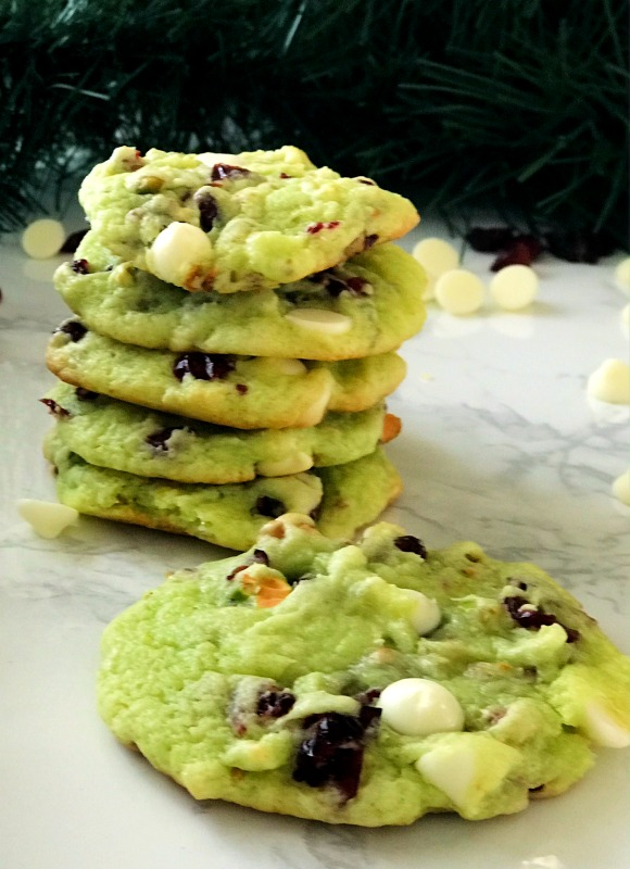 Heavenly White Chocolate Pistachio Cranberry Cookies