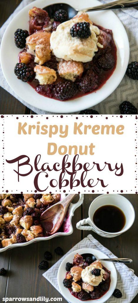 Krispy Kreme Donuts Blackberry Cobbler breakfast dessert