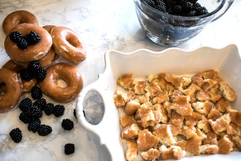 Krispy Kreme donuts blackberry cobbler glazed donut dessert berry