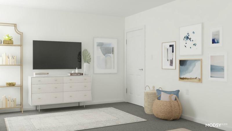 gold bookshelf, bedroom rugs, bedroom mirror, bedroom bookshelf, chic bedroom, modern bedroom decor, bedroom decor ideas, white bedroom, master bedroom lights, wall art, fiddle leaf fig, indoor plants