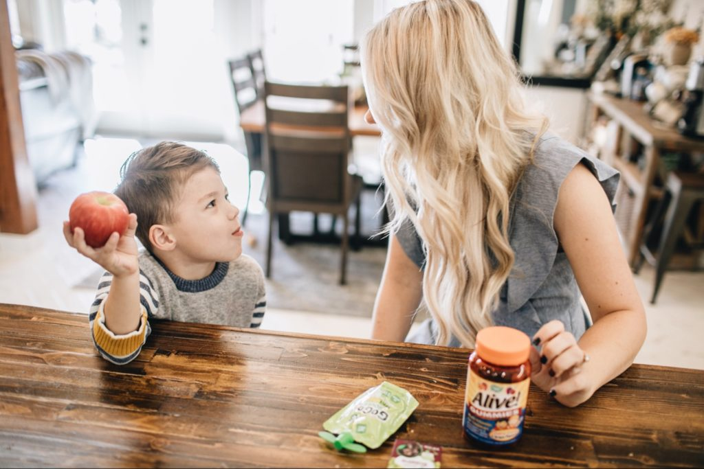 multivitamin, morning routine, mornings with kids, healthy breakfast