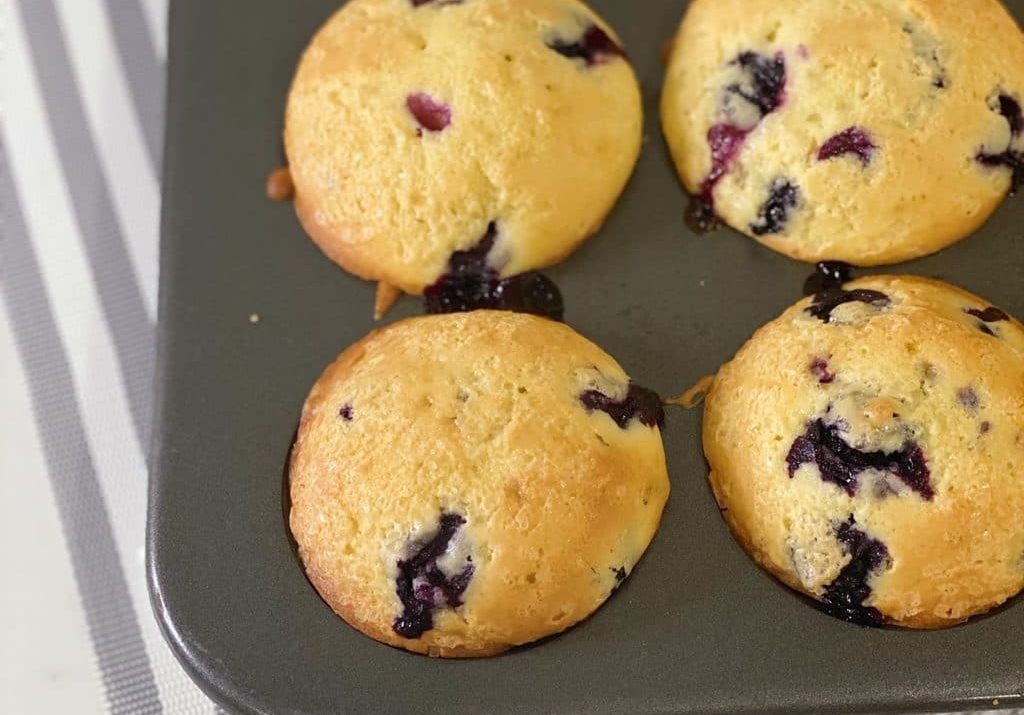 World-Famous Homemade Blueberry Muffins