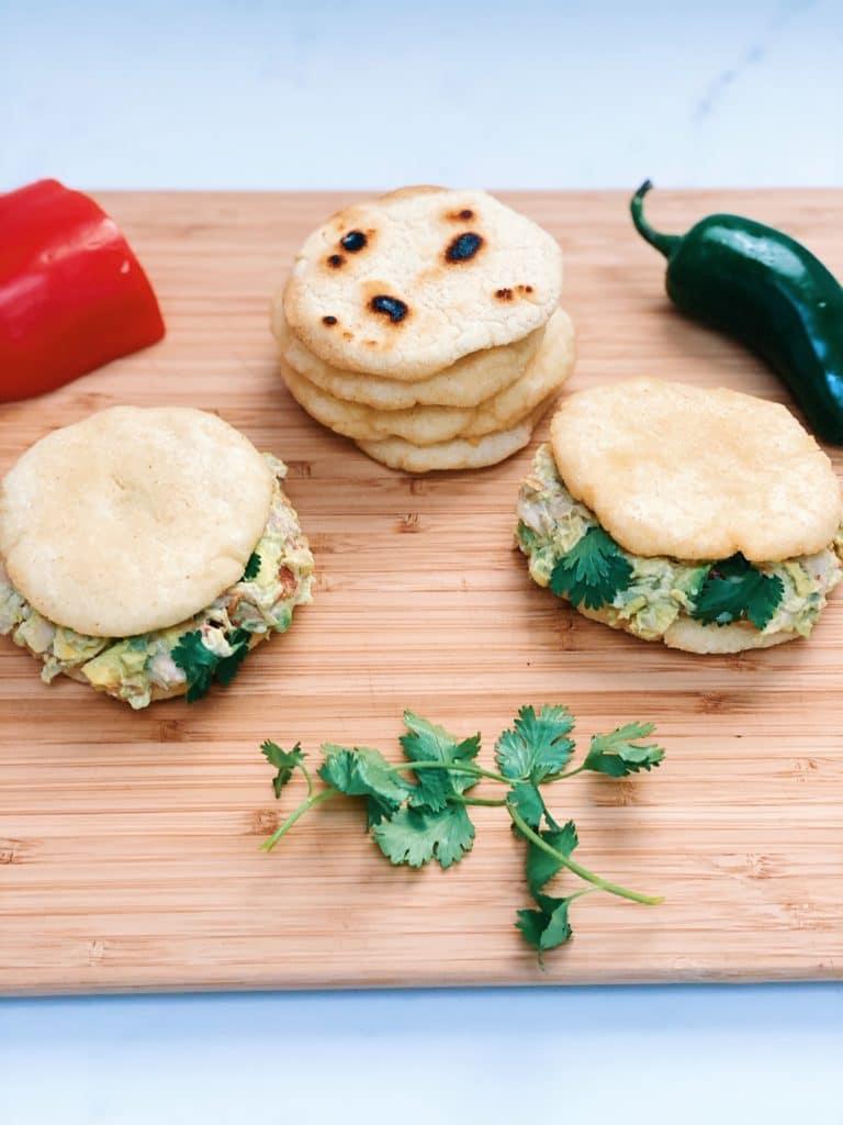 how to make arepas, reina pepiada arepas, chicken avocado sandwich, traditional recipes, traditional arepas, reina pepiada arepas