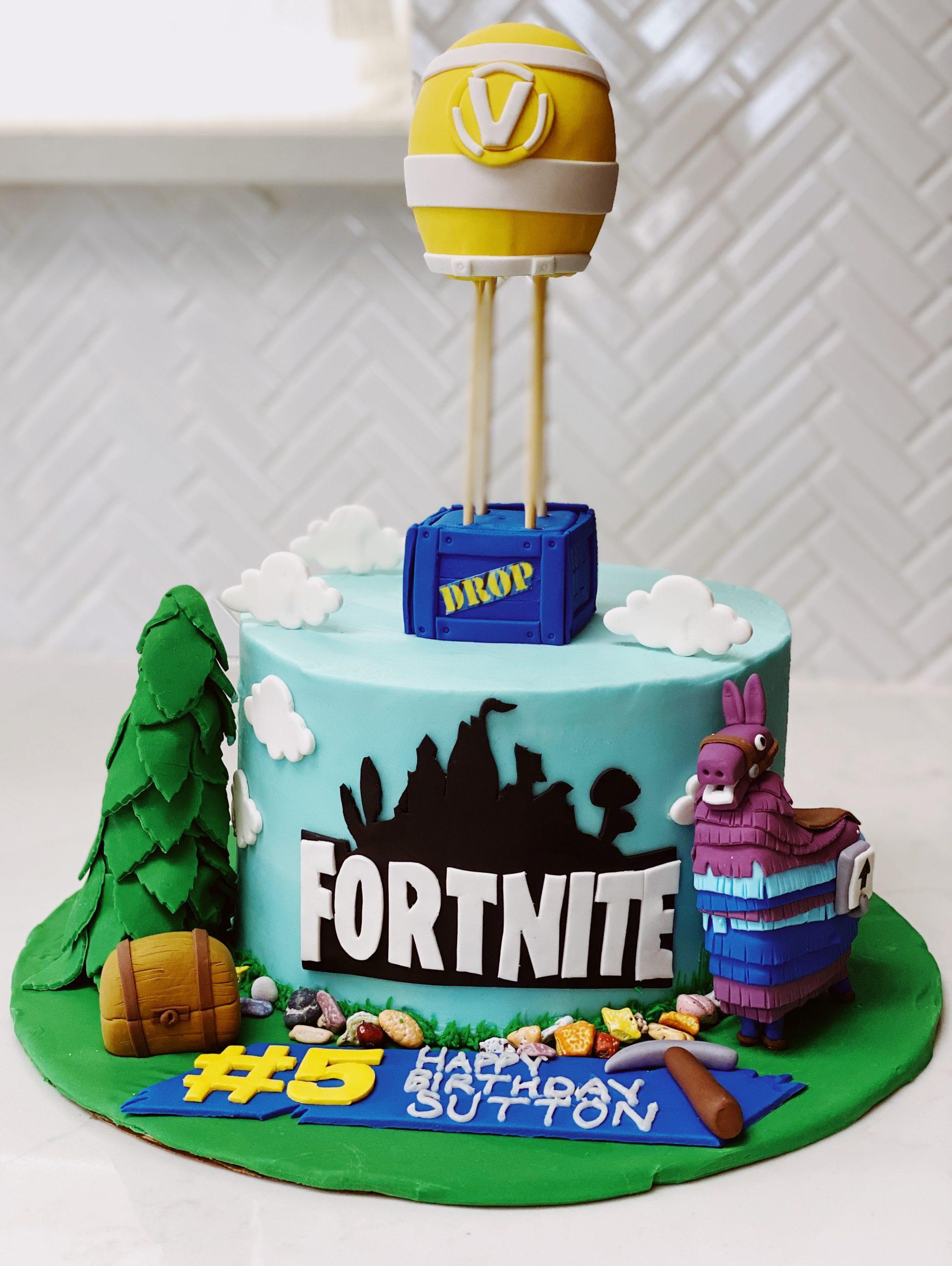 fortnite cake idea